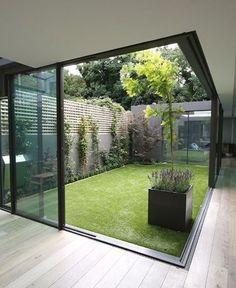 Jardim iluminando ambiente/ integração.