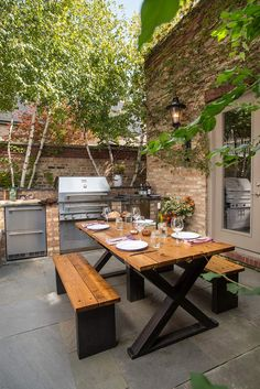 Time to start planning that #outdoorkitchen with a built-in ... Outdoor Kitchen And Living Space Design Ideas Html on