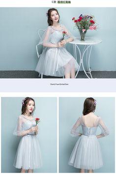 들러리 드레스 현금이 부족하다 New 가을 포켓 포인트 회색 수신 들러리 드레스 여자 작은 그룹 자매 스커트 원피스