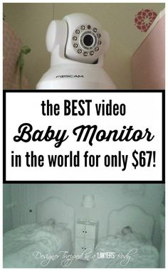MUST PIN!  The BEST and CHEAPEST video baby monitor!  Come see all the details at Designer Trapped in a Lawyer's Body, including a video taken WITH the baby monitor!