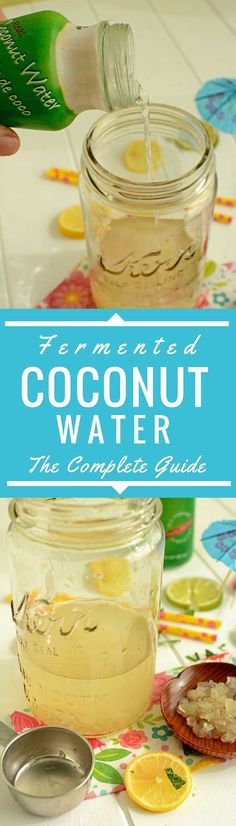 Discover the bonus benefits of fermented coconut water. Dead simple, 2-step, 2-ingredient 24 hour method for making fermented coconut water. via @makesauerkraut