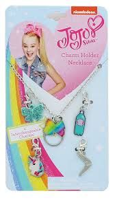Jojo Siwa Charm Necklace with 4 interchangeable charms