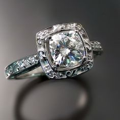 Beautiful vintage inspired engagement ring.