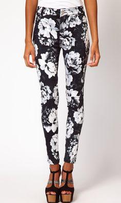 Motel Jordan Jeans in Floral Print