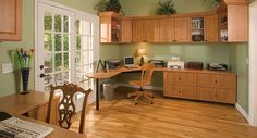 Candlelight-Office-in-Raised-Panel--Grn-Walls-French-Door-Eric-Customer