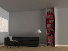 Open wall bookshelf