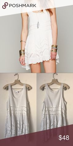 FREE PEOPLE Voile and Lace Trapeze Slip New without tags, * inner tag cut to prevent store returns. Free People Dresses