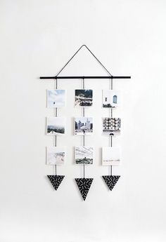 Photo wall hanging DIY