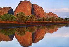 The Olga Mountains, Australia. 36 stunning peaks in Uluru-Kata Tjuta National Park formed by rain and wind erosion...I'm going to go on a hike here..