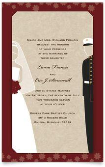 marine wedding invitation