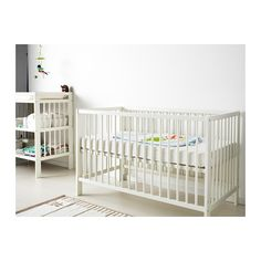 GULLIVER Crib IKEA The bed base can be placed at two different heights. And it converts to a toddler bed.