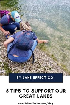 Support Michigan's Great Lakes with these five tips from Lake Effect Co. This includes saving water and watching out for invasive species this summer! Lake Michigan, Wisconsin, Ecology Center, Lake Huron, Lake Superior, Lake Life, Great Lakes, Natural Wonders, Outdoor Activities