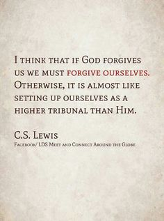 Forgiveness of self, C.S. Lewis