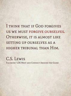 Forgiveness of self, C.S. Lewis