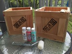 Learn how to reuse Man Crates and turn them into stenciled flower pots using Cutting Edge Stencils. http://www.cuttingedgestencils.com/moroccan-tiles-DIY-project-stencils.html