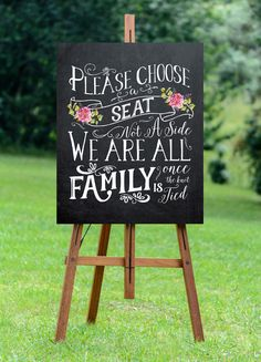 Printable chalkboard wedding sign from OurFriendsEclectic via Etsy. #weddingsign #printables #reception