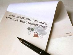 """Notizblock """"Das benötige ich noch für die Weltherrschaft"""" // notebook """"things i still need in order to acquire world domination"""" via DaWanda.com"""