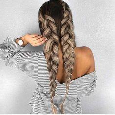 Blond Ombre, Ash Blonde Hair, Ombre Hair, Blonde Honey, Blonde Braids, Hair Dye, Brown Hair, Front Hair Styles, Curly Hair Styles
