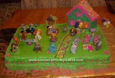 Homemade Littlest Pet Shop Birthday Cake: I made this Littlest Pet Shop Birthday Cake for my daughters 7th birthday, inspired by other cakes Ive seen on this site. The base of the cake is 2 11x15