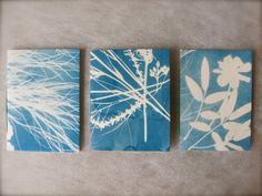 cyanotype mini notebooks via Etsy