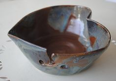 Ceramic Yarn Bowl by bluegreenartisan...bought this for my mom for mother's day!