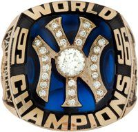 1996 New York Yankees World Championship Ring Presented to Don Mattingly