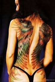 wing tattoo back large - Google Search