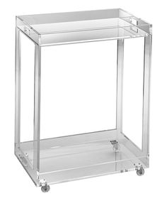 Look at this Acrylic Bar Cart on #zulily today!