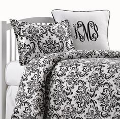 Black and White Kids Bedding | Boys Bedding Sets | Liz and Roo Fine Baby Bedding