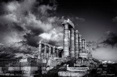 Poseidon Temple... - null Empire State Building, Temple, My Photos, Explore, Travel, Viajes, Temples, Destinations, Traveling
