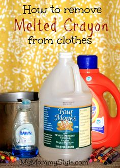 How to remove melted crayon from clothes