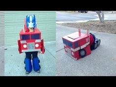 Optimus Prime Transformer Costume - YouTube                                                                                                                                                                                 Mehr