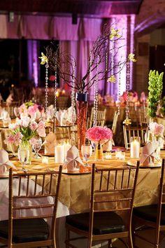 Whimsical wedding decor
