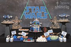 Wow! This is an amazing Star Wars themed birthday party!