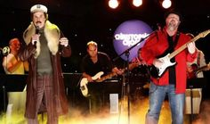 "Ron Burgundy (aka Will Ferrell) of ""Anchorman 2"" performs with Christopher Cross in an odd duet on Thursday's ""Jimmy Kimmel Live!"""