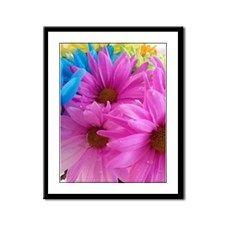Pink Splash Framed Panel Print
