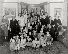Shanghai, China, 1939, a Hanukkah party for refugee children in the Twig family's home