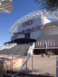The Thomas & Mack Center, home to UNLV's Men's Basketball team.