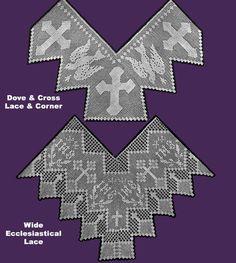Résultat d'images pour crochet altar cloth patterns Crochet Edging Patterns, Lace Patterns, Clothing Patterns, Crochet Stitches, Crochet Cross, Crochet Lace, Faith Crafts, Catholic Crafts, Altar Cloth