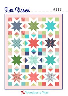 """An easy peasy FQ quilt!79"""" x 61""""Finished block size: 18""""Fabric requirements:Blocks: 12 FQs and 12 F8s*Border: 3/4 ydBackground: 2 3/4 ydBinding: 3/4 ydBacking: 5 ..."""