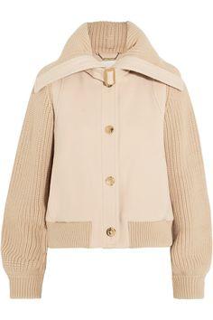 Pale-blush wool-blend felt, beige merino wool Button fastenings through front Fabric1: 98% virgin wool, 2% elastane; fabric2: 100% merino wool; lining: 100% viscose Dry clean Designer color: Earthy Pink Made in France