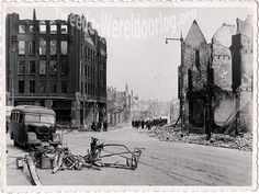WW2 in the Netherlands - Rotterdam May 14th 1940 - Gedempte Slaak