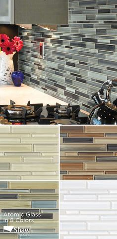 Shaw's atomic glass - carbon Tile & Stone for Flooring and Wall Projects from Backsplashes to Fireplaces. Wide Variety of Tile Flooring and Wall Tile Colors.