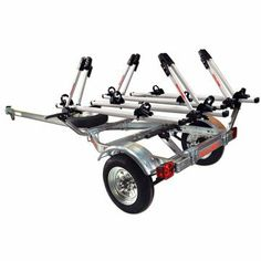 Malone MPG462B4 MicroSport Trailer - Four Bike Carrier Package - Galvanized Wheels
