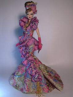 Barbie Purple Reflection Artist Creations Italian O.O.A.K. Fashion Dolls by Alessandro Gatti e Giuseppe De Bellis