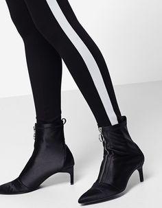 Leggings with side stripes - Scarves | Stradivarius Philippines