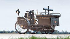 """Oldest """"still running"""" motor vehicle car in the world,  1884 DeDion Bouton Et Trepardoux Steam Runabout"""