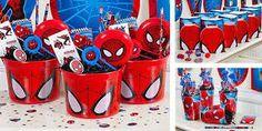 Resultado de imagem para decoração simples de festa homem aranha
