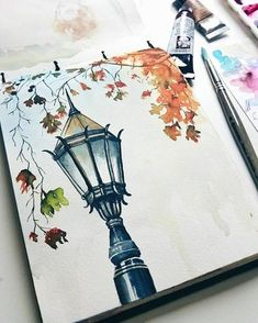 Image in illustration / inspiration collection by lovely gallery . - Image in illustration / inspiration collection by lovely gallery … – Image in the illustrat - Fall Drawings, Pencil Art Drawings, Art Drawings Sketches, Cool Art Drawings, Watercolor Portraits, Watercolor Paintings, Watercolor Flowers, Easy Watercolor, Watercolour