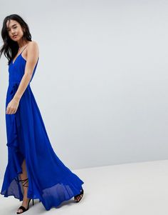 ASOS | ASOS Ultimate ruffle front cami wrap maxi dress